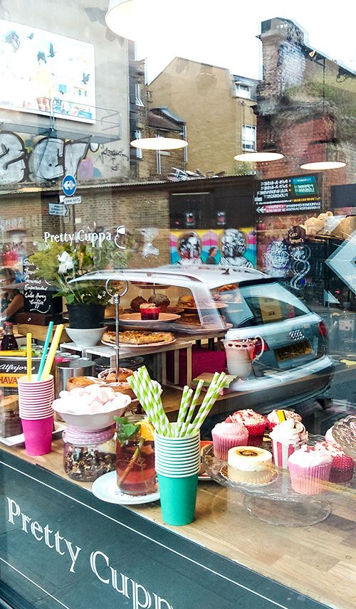 Posted on Urber PRETTY CUPPA @PRETTYCUPPA on Brick Lane is my new favourite place to watch the world go by. #EastLondon #BrickLane