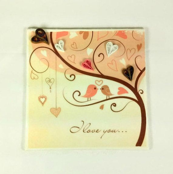 Love birds cotton anniversary gift for him paper
