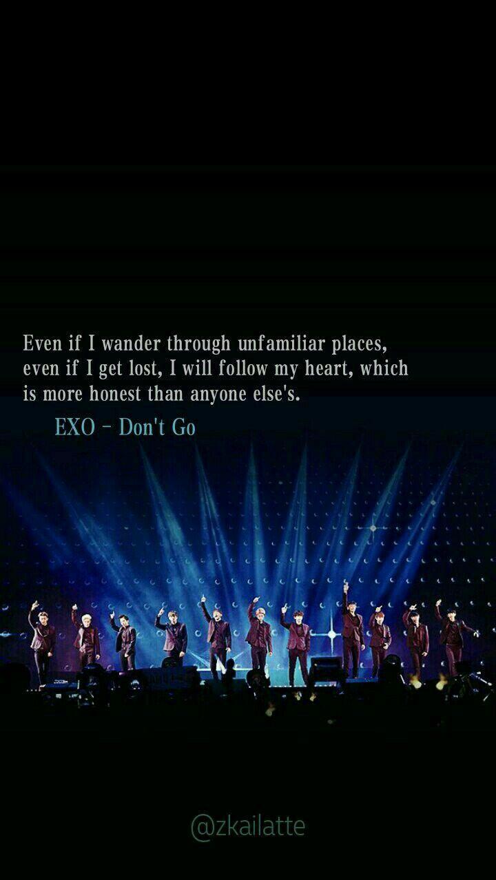 Lirik Dont Go Exo : lirik, Azka♡, WALLPAPER, Kutipan, Lirik, Lagu,, Lirik,