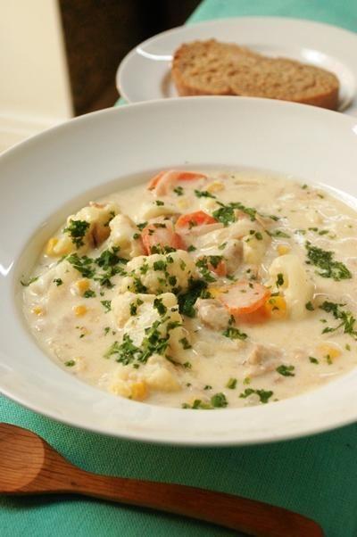 runfisk, suppe, blomkål, sunt, høst