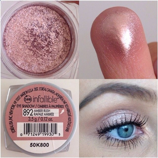 Loreal Infallible Amber Rush....love this eye shadow! The rose gold color, pigmentation, and texture is amazing! Great drug store find!