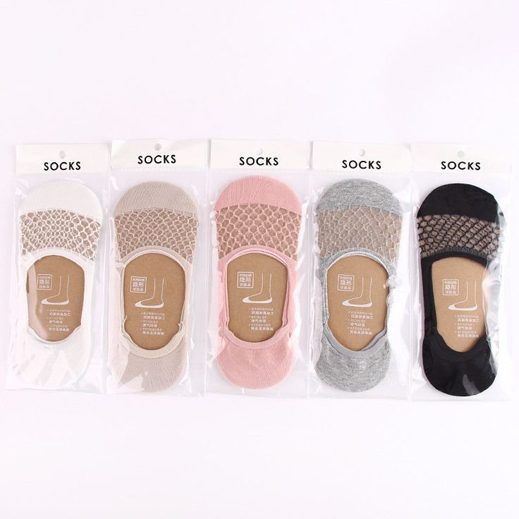 Women Summer Mesh Transparent Invisible Antiskid Boat Sock Breathable Shallow Low Cut Socks