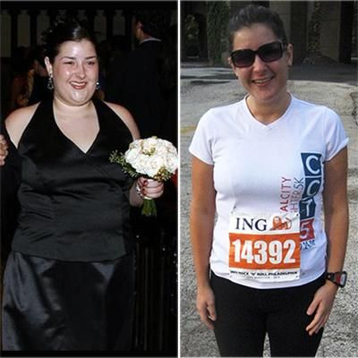 "Beth Klein-Lost 88 lbs. ""I followed Weight Watchers and started eating more whole foods and less processed stuff.  I also upped my water intake and increased activity with running, biking, yoga and strength training.  The best thing that I did for myself was to set small, attainable goals.""  Read more @ Shape....This is what I like to see Real Stories!!!"