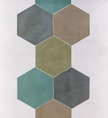 Carreau de ciment hexagonal tendance   Ciment, Carreau de ciment, Carreaux ciment