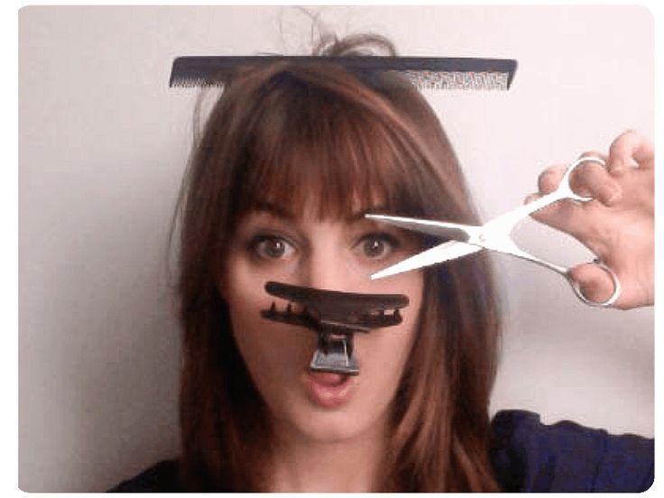 1000 id es sur le th me coiffures funky courtes sur - Comment se couper une frange sur le cote ...