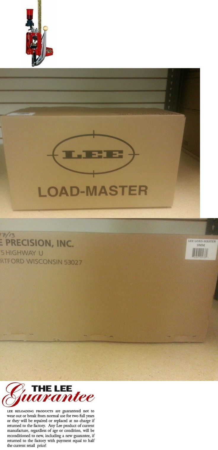 Presses and Accessories 71120: Lee Load Master Progressive Reloading Kit For 9Mm Luger (90936) Nib -> BUY IT NOW ONLY: $260.58 on eBay!