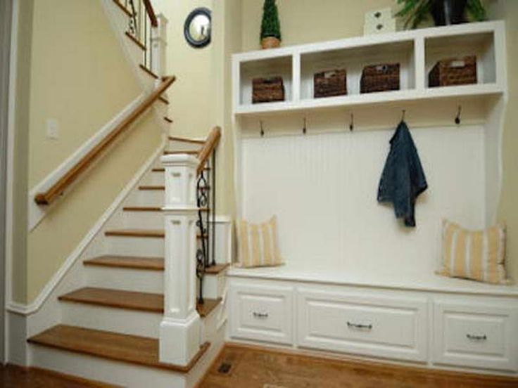 foyer bench shoe storage -