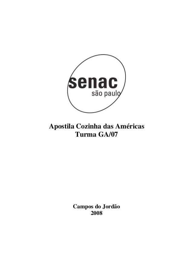 Apostila de Cozinha das Américas - Senac SP