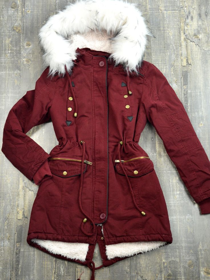 D1898 Μπουφάν Παρκά με Επένδυση Γούνας-Δερματίνη Λεπτομέρειες και Αποσπώμενη Κουκούλα - Decoro - Γυναικεία ρούχα, ανδρικά ρούχα, παπούτσια