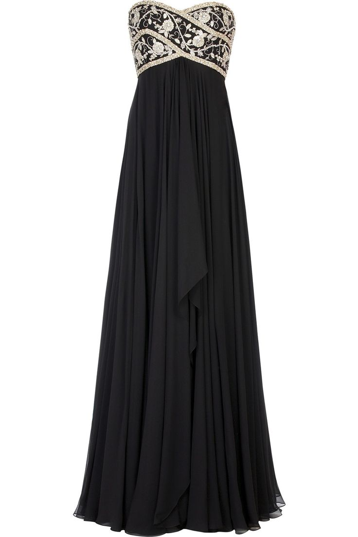 LOVEEEE: Maxi Dresses, Black Dresses, Formal Dresses, Black And White, Bridesmaid Dresses, Gorgeous Gowns, Black Gowns, Prom Dresses, Military Ball