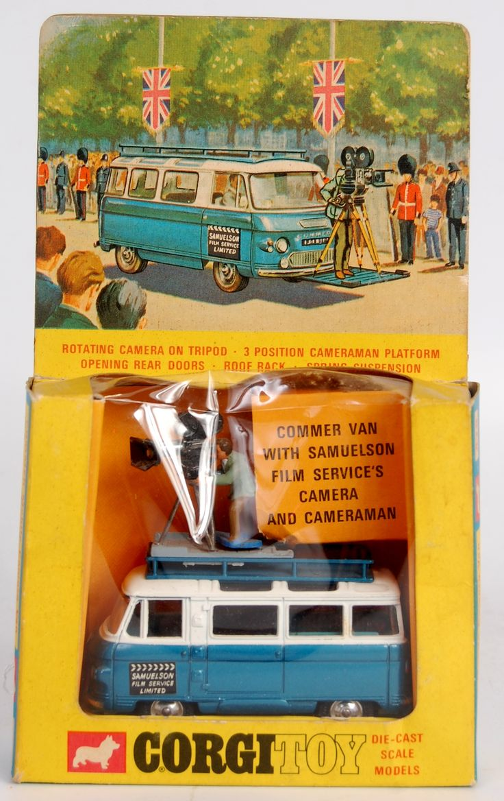Lot 1751 - Corgi Toys, 479 Commer mobile camera van, metallic blue and white body, with light blue interior,