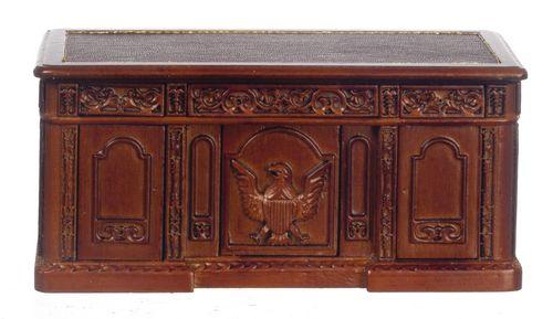 Resolute Desk - Walnut | Mary's Dollhouse Miniatures