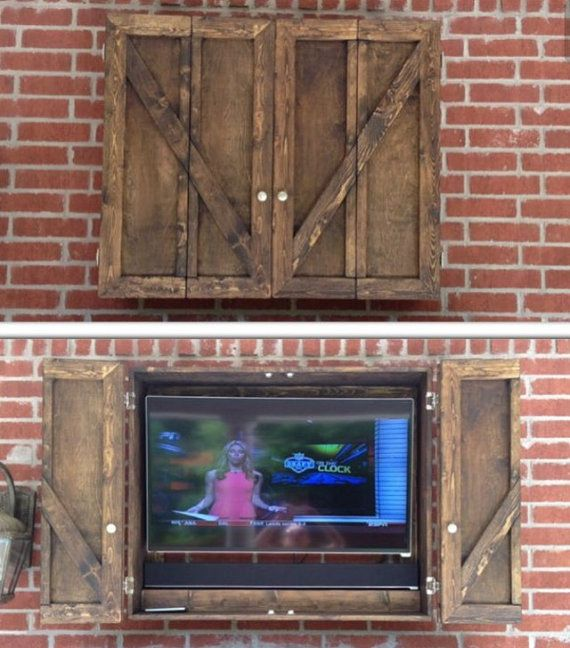 outdoor tv enclosure wood cabinet ebay