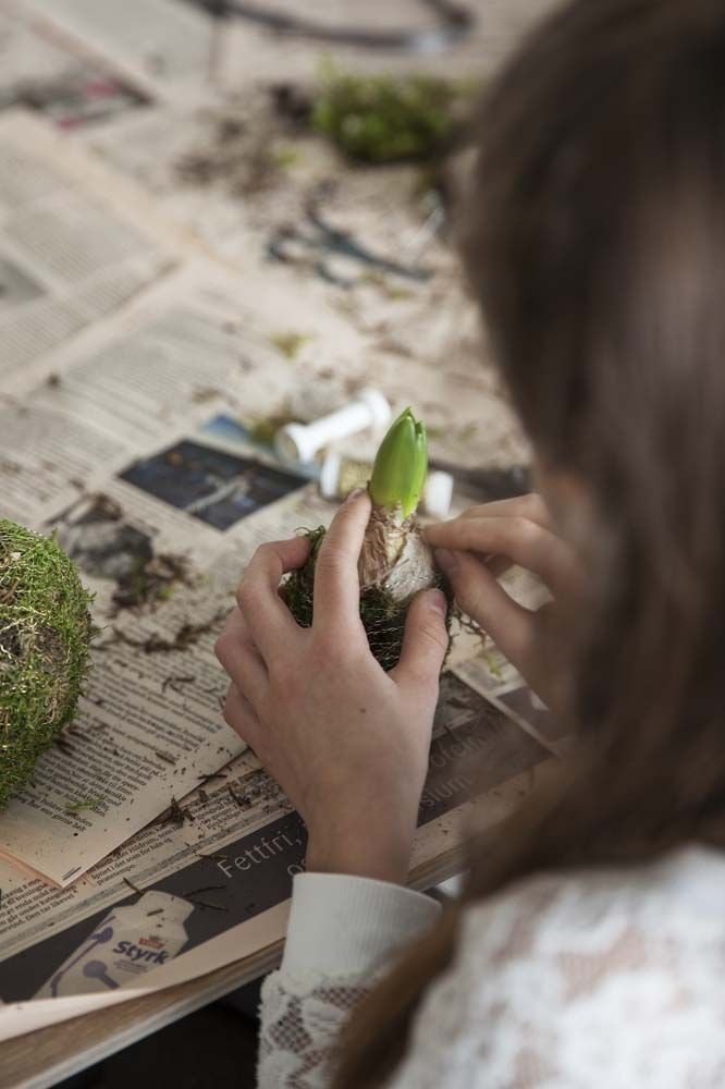 Ønsker du å være kreativ og lage ting selv? Vi gir deg noen tips til hvordan lage enkel julepynt med friske blomster og tilbehør.