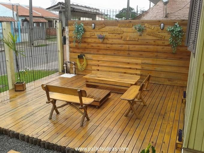 17 best images about outdoor rooms on pinterest gardens for Garden decking from pallets