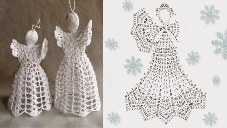 Relasé: Addobbi natalizi: angelo all'uncinetto - schema