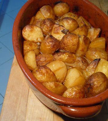 Batatas assadas crocantes