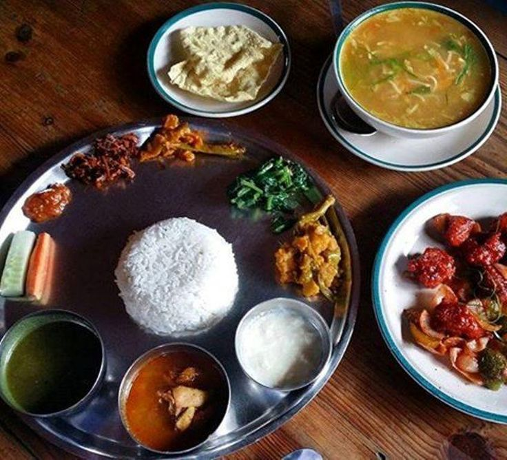 #ClearSkyTreks : Foodies' Diary Delicious Dhal Bhat at Camino Cafe in Thamel, Kathmandu #Nepal #ClearSkyTreks  #kathmandu #thamel #caminocafe #travel #explore #adventure #dhalbhat #nutrition #setupfortheday #delicious #happiness : @Clear_Sky_Treks...
