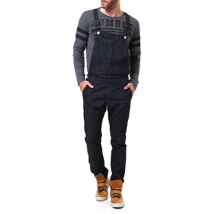 As 10 melhores ideias de macac o jeans masculino no for Jardineira masculina c a