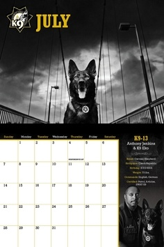 The Sacramento Sheriff's Department Raises Funds for its Four-Footed partners with K9 Calendar