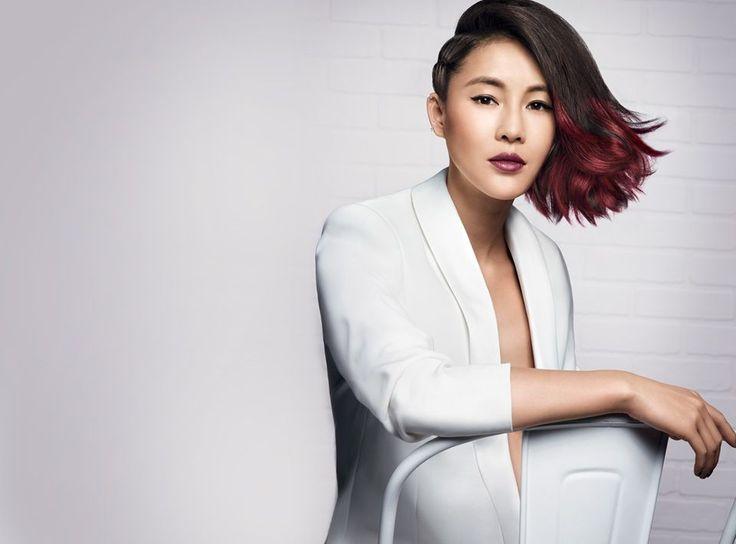 It Looks P/E 2014 de L'Oreal Professionnel : Le Side Swept Red Ombré porté par la IT GIRL Chen Ran