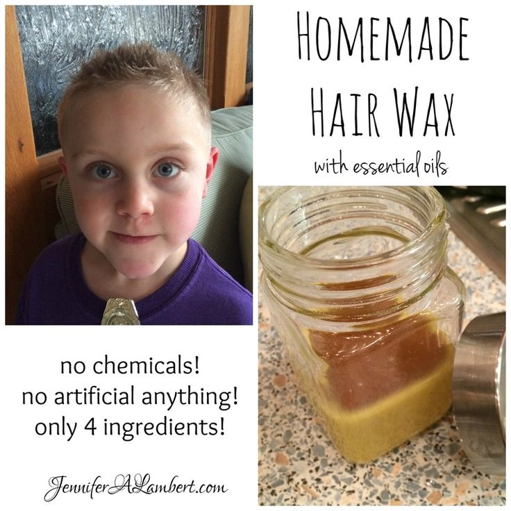 Homemade Hair Wax with essential oils! Only 4 ingredients!