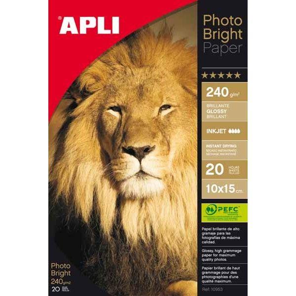 Comprar Papel fotográfico 10 x 15 240g 20 hojas 04455  #oficina #tienda #negocio #casa #hogar #papel #fotografico #profesional