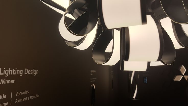 OLED Chandelier with 61 OLED flexible panels