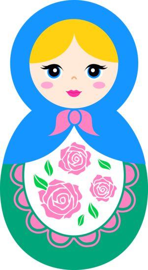 Matryoshka – Russian nesting doll. Clip art. #art #matryoshka #Russian #doll