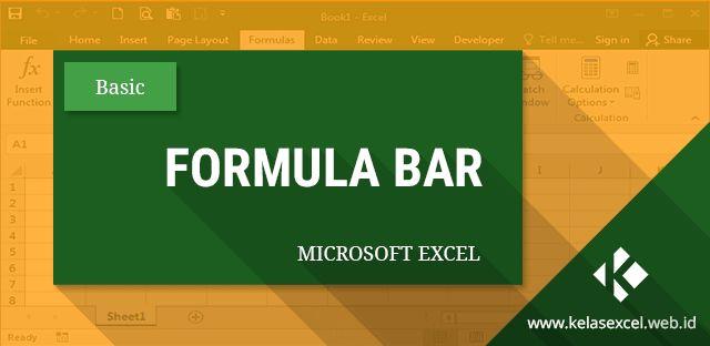 Fungsi formula bar pada microsoft excel serta cara merubah ukuran dan menyembunyikan atau menampilkan formula bar excel.