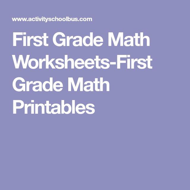 First Grade Math Worksheets-First Grade Math Printables