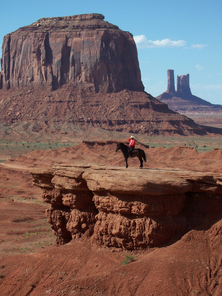 Navajo Man And His Horse With Images Monument Valley Utah