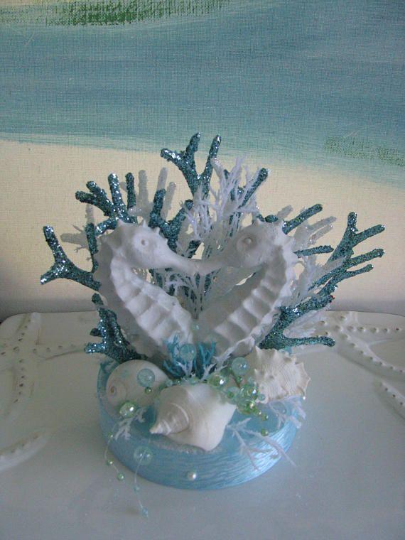 Seahorse Wedding Cake TopperSeashell Wedding Cake Topper