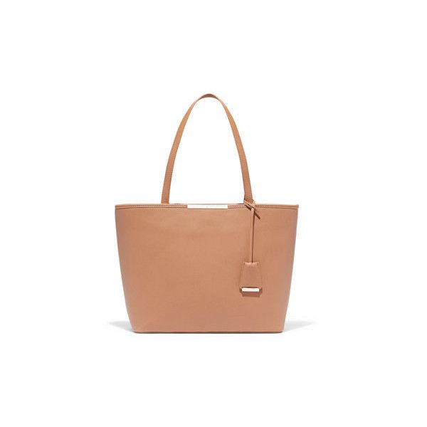 Gramercy Tote ($39) ❤ liked on Polyvore featuring bags, handbags, tote bags, natural, weekend tote bag, handbags totes, faux leather tote, zippered tote bag and vegan tote bags