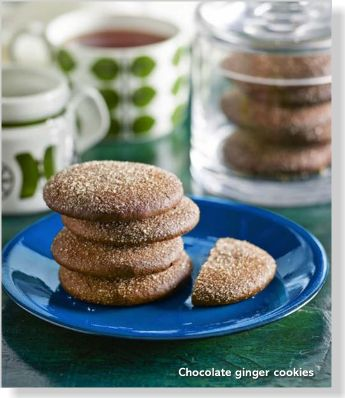 Chocolate ginger cookies. Clipped from Better Homes and Gardens using Netpage.