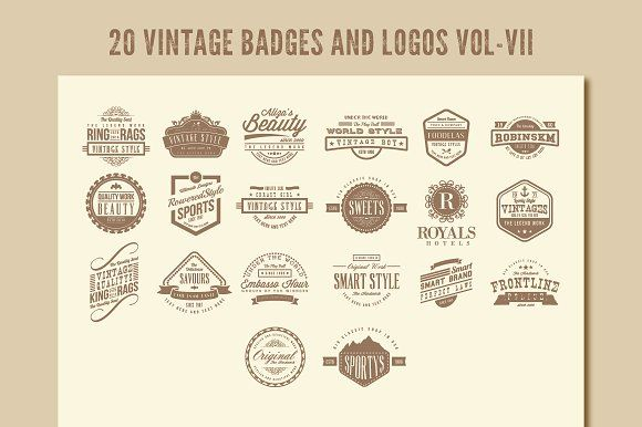 Vintage Badges and Logos Vol-7 by emotions76 on @creativemarket