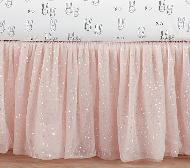 The Emily & Meritt Sparkle Tulle Crib Skirt #pbkids
