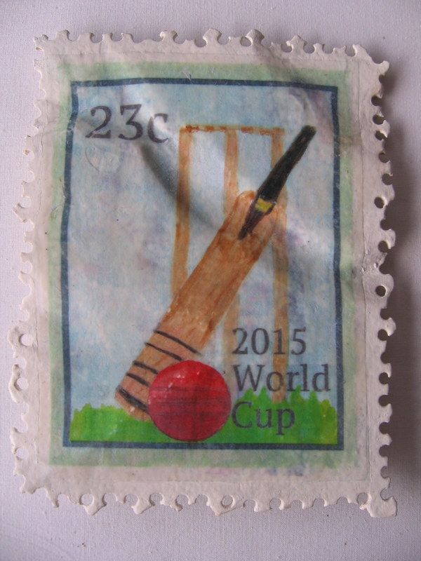 'World Cup' .. Carved Stamp Sculptures . approx 20 cm x 20 cm $210..nz. Paying homage to the humble postage stamp and a playful exaggeration of scale. Commissions available with any image. www.lizmcauliffe.com