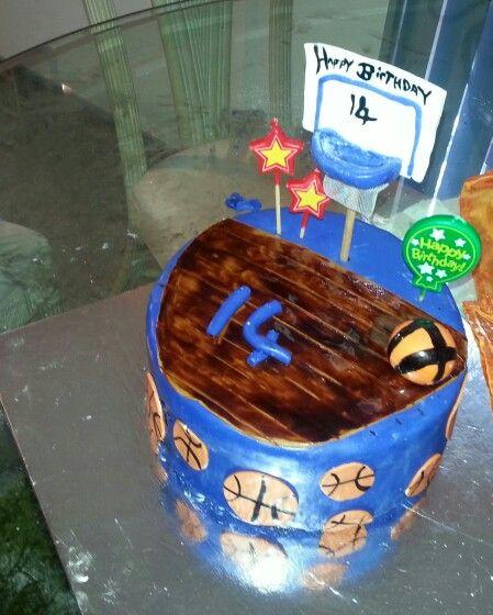 14th birthday basketball cake