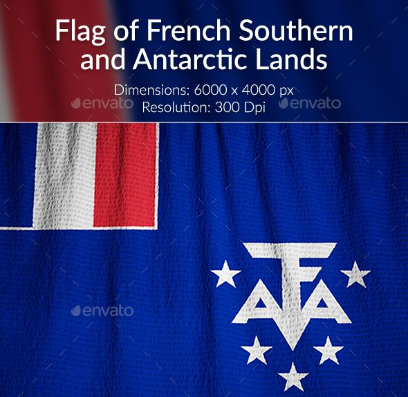 Ruffled Flag of French Southern and Antarctic Lands