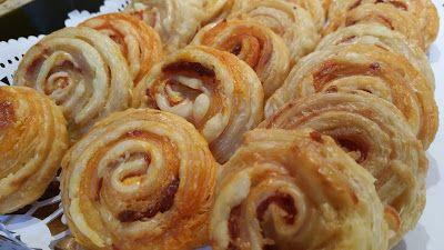 la cocina de Tina: ESPIRALES DE HOJALDRE RELLENOS