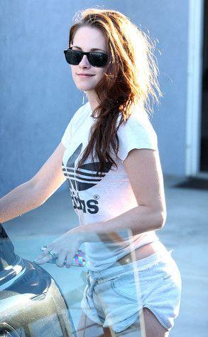 Kristen Stewart in Adidas by Stella McCartney. Oh well, something different finally!