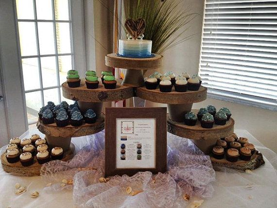 rustic wedding cake display ideas rustic wedding cake and cupcake display by 19530