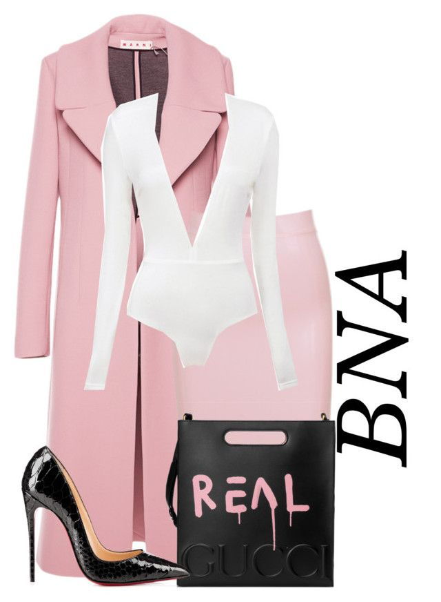 """""""BNA"""" by deborahsauveur ❤ liked on Polyvore featuring Marni and Gucci"""