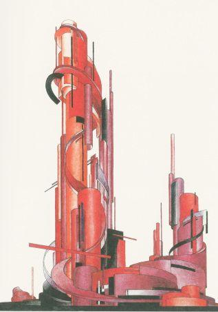 Iakov Chernikhov, Architectural fantasy (1927)