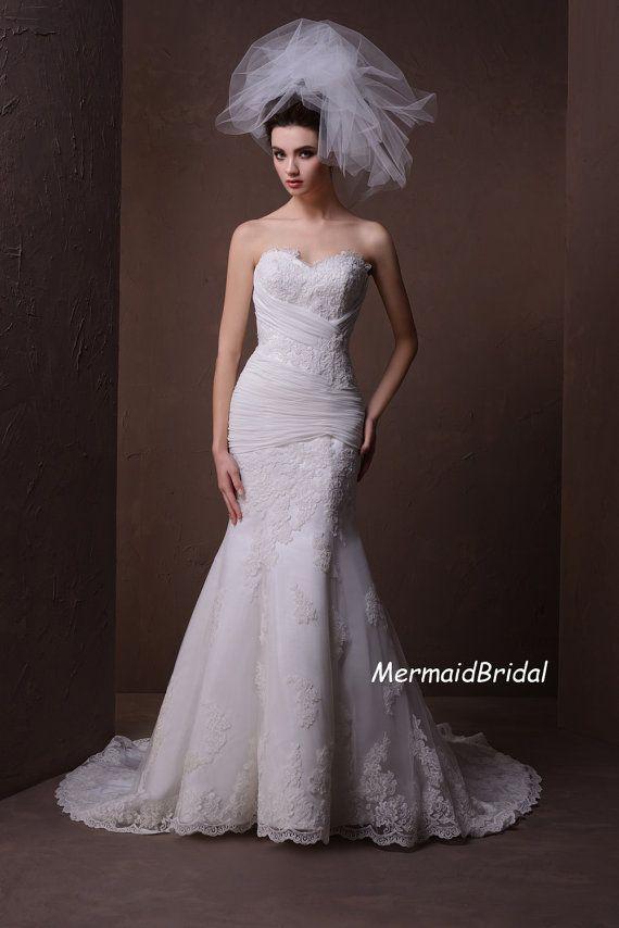 Items Similar To Reserved ForJade Tucker Jadeceili Sweetheart Tulle Mermaid Wedding Dress CUSTOOM On Etsy