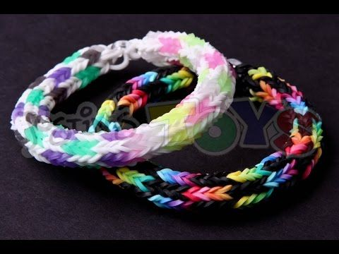 Rainbow Loom - CHECKERED HEXAFISH Bracelet (Advanced ...