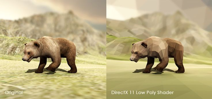 DirectX 11 Low Poly Shader - 资源商店