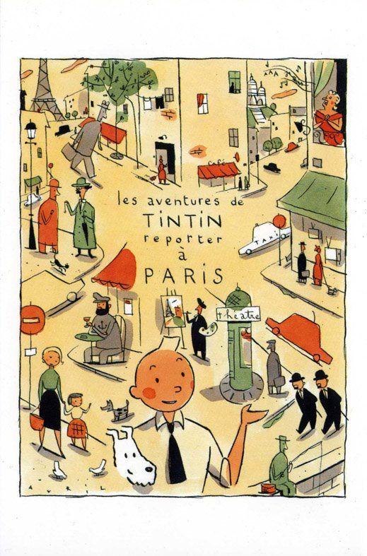Tintin reporter à Paris | François Avril - Les passants d'Avril
