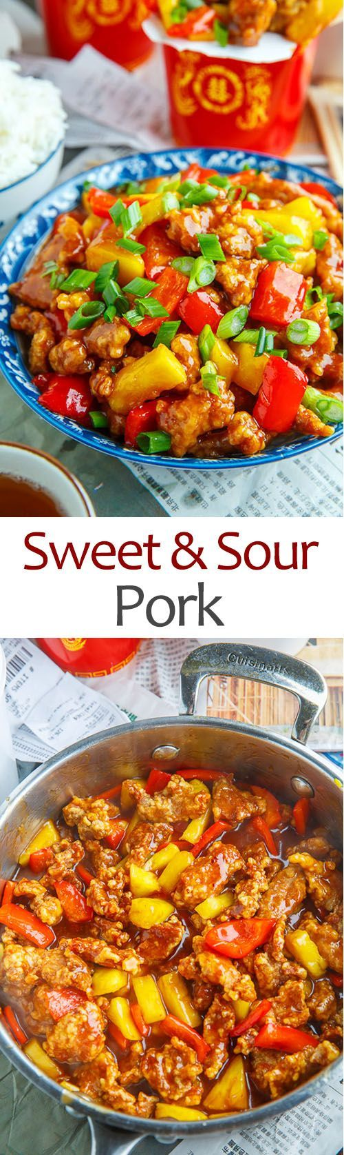 Sweet and Sour Pork. Making this tonight with some pork chops, cut into pieces! Need to make more of the sauce, but great recipe!